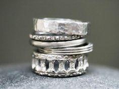 ❥ silver rings