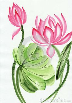Watercolor lotus. Just the flower, in blue. Tattoo thoughts.