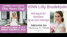 Meld deg på vårt nyhetsbrev og Vær med i trekningen av en valgfri LILLY Brudekjole ABELONE.NO