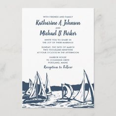 Nautical Wedding Invitations, Nautical Wedding Theme, Elegant Wedding Invitations, Wedding Invitation Cards, Invites, Beach Invitations, Invitation Kits, Invitation Wording, Blue Beach Wedding