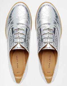 silver oxfords <3