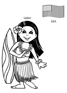 Multicultural kids coloring pages