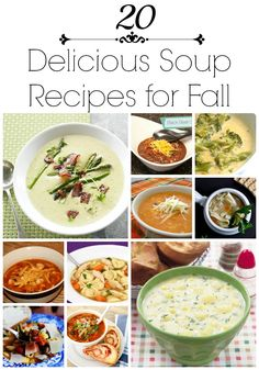 20 delicious soup recipes for fall ...these look so good!