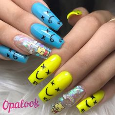 The other day the beautiful iamferv visited us and we made her this wonderful de… – Uñas Coffing Maquillaje Peinados Tutoriales de cabello Gel Nails, Manicure, New Nail Designs, Fire Nails, Nail Studio, Best Acrylic Nails, Nail Shop, Stylish Nails, Nails On Fleek
