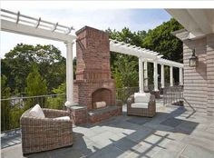 outdoor fireplaces....on an open deck