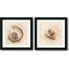 Alan Blaustein 'Il Oceano' 2-piece 18 x 18-inch Framed Art Print