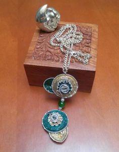 collar doble cápsulas nespresso artesanal