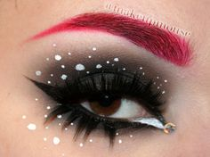 Artistic charcoal smokey eye with a red brow and a single crystal accent. Makeup Box, Kiss Makeup, Hair Makeup, Makeup Ideas, Red Eyebrows, Crystal Tattoo, Pretty Girl Rock, Fantasy Make Up, Arabic Makeup