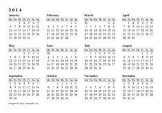 Year Calendar 2014 Template | 74 Best Printable Calendars Images On Pinterest Printable
