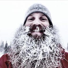massive frozen beard !! full thick beard and mustache beards bearded man men snow snowy winter brr cold lumberjack mountain man #snowbeard