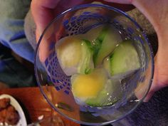 Cucumber lemon ice cubes