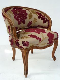 antique chair with wonderful floral fabric