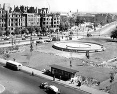1949 West-Berlin - Reichskanzlerplatz (heute: Theodor-Heuss-Platz), Blick nach Osten.