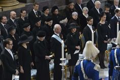 Swedish royal family attends the funeral of Princess Lilian of Sweden 3/16/13