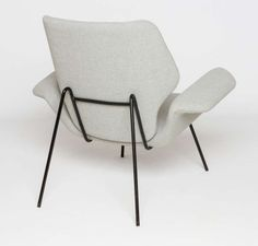 Alvin Lustig; Enameled Metal Lounge Chair for Paramount Furniture, c1950.