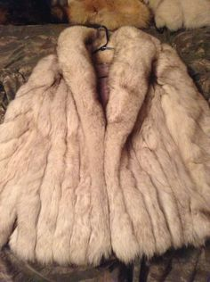 Blue Fox Fur Coat by TrappinGirl