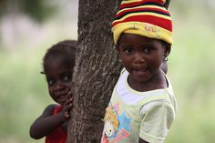 two girls, mozambique, africa