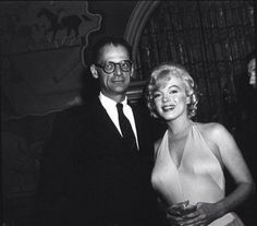 """Marilyn with Arthur Miller at a press conference for """"Let's Make Love"""", January 16th 1960."""
