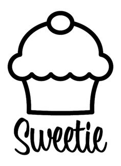 Vinyl decal Cupcake Sweetie by thoughtsthatstick on Etsy, $7.50