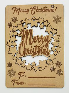 Any laser processing marks can be removed by a light sanding or simply painting over. Christmas Tree Baubles, Christmas Tree Decorations, Christmas Crafts, Merry Christmas, Wooden Shapes, Decor Crafts, Gift Tags, Gifts, Products