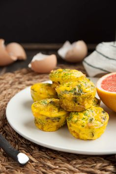 These mini broccoli cheddar egg muffins are just like crustless quiches - fancy but easy as can be! Each one has over 4 grams of protein and under 60 calories.