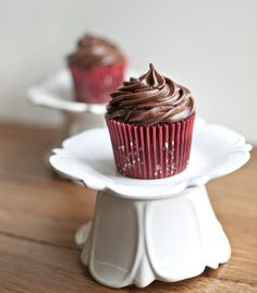 Nutella Cupcakes with Nutella Buttercream and a Nutella Middle