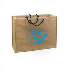 Jute Gift Totes with Wedding Monograms - We love the bright beautiful colors that couples are using this year!  Congratulations!!! #weddinggiftbags, #weddinggifts, #monogramweddinggifts