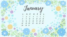 winter flower January 2017 wall paper / vudiaries.wordpress.com