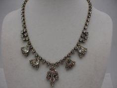 Vintage Rhinestone Necklace Vintage Choker