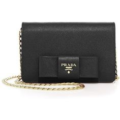 671d8fd67f12 Prada Luxe Bow Saffiano Leather Chain Wallet ( 1