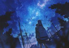 - Go To Sleep (ft. Sky Anime, Anime Galaxy, Anime Scenery, Anime Artwork, Fantasy Artwork, Environmental Art, Anime Art Girl, Anime Girls, Pretty Art
