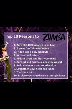 10 Reasons to do Zumba