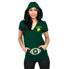 76806cf36e ... Flirty Repeat Tube Top - Green Yellow. See more. College Oregon Ducks  Women s Glitter Hooded V-Neck T-Shirt - Green Oklahoma Sooners