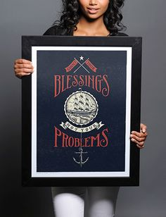 Count your Blessings print from Sevenly Powerful Images, Typography, Lettering, Body Mods, Skull Art, How To Raise Money, Vintage Designs, Art Decor, Charity