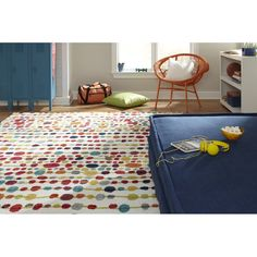 Strata Cut Pile Blue/Red Area Rug