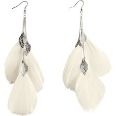 H&M Earrings ($4.59) ❤ liked on Polyvore featuring jewelry, earrings, accessories, brincos, jewels, feather chain earrings, feather jewelry, h&m, chain dangle earrings and h&m jewelry
