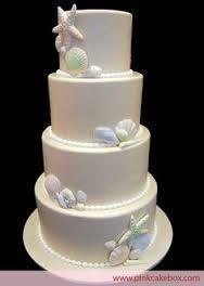 Resultado de imagem para bolo para aniversario simples na praia