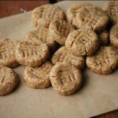 A flourless version of a peanut butter cookie sweetened only with dates.