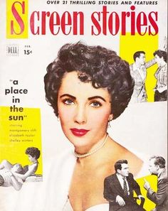 Old Magazine Covers | February 1951 Screen Stories Magazine 'Elizabeth Taylor'- Movie, from ...