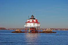 Thomas Point Lighthouse, Chesapeake Bay Sailcloth Print