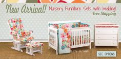 New Furniture Packages from Cotton Tale Designs, bedding included. http://www.cottontaledesigns.com/pages/nursery-furniture