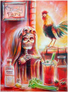 Day of the Dead Mi Bloody Mary Quality Print by artist Heather Calderon