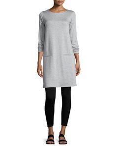 Long-Sleeve+Fleece+Tunic+&+Stretch+Fleece+Leggings+by+Eileen+Fisher+at+Neiman+Marcus.