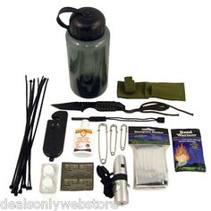 26pc Ultimate Outdoor Survival Emergency Camping Kit | eBay