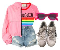 """Untitled #1305"" by wavvy-k ❤ liked on Polyvore featuring Gucci, 3x1, MSGM, CÉLINE and adidas"