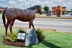 painted horse statues in Okilanoma | ... Memory of Lost Friends - Shawnee, Oklahoma | Flickr - Photo Sharing