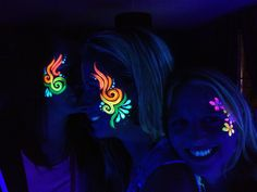 Glowing facepaint
