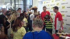 And more pictures with all the people that came to see them. #DRNesquik