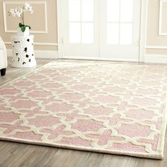 Safavieh Handmade Moroccan Cambridge Light Pink Wool Rug (8' x 10') - Overstock™ Shopping - Great Deals on Safavieh 7x9 - 10x14 Rugs