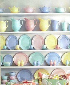 LuRay vintage pastel dinnerware collection